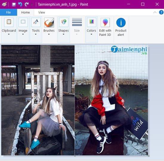 Photo collage on Windows 10 12