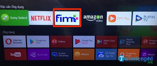 Directs the free fim call on Sony 4 smart TV