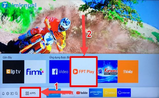 Directive works with fpt play extension on smart TVs samsung 3