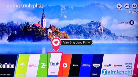 Directs the activity of calling the application to watch movies on television lg 3