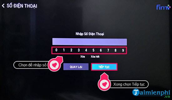 Directs the activity of calling the application to watch movies on television lg 7