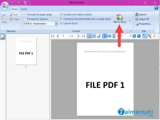 how to convert pdf to excel with solidconverter 9