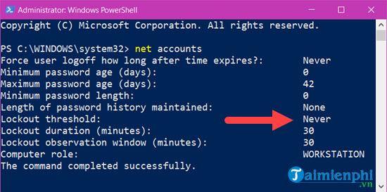 Cách giới hạn số lần đăng nhập sai trên máy tính Windows