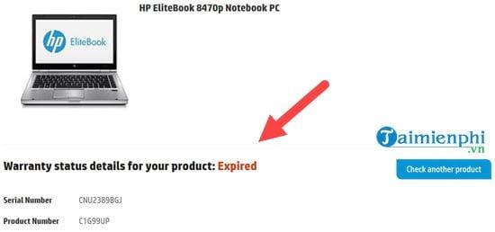 Hướng dẫn kiểm tra bảo hành Laptop HP 4