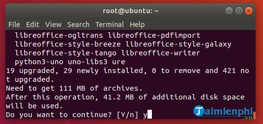 Cách cài LibreOffice trên Ubuntu, Linux Mint