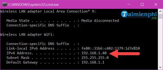 Xem địa chỉ IP của máy tính Windows 10 siêu đơn giản 3