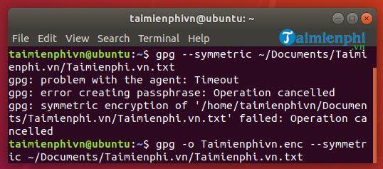 huong dan cach ma hoa files va thu muc tren ubuntu 18
