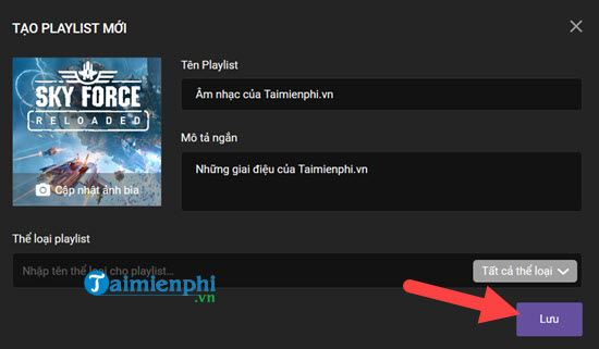 How to make playlist of music on zing mp3, create playlist of rieng minh 8