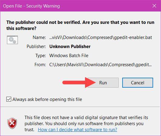 Kích hoạt Gpedit.msc trên Windows 10 Home 5