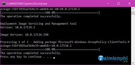 Kích hoạt Gpedit.msc trên Windows 10 Home 7