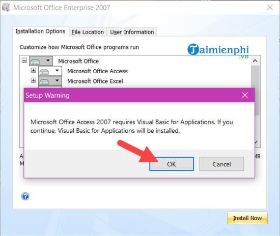 parallel installation of office 2007 and 2016