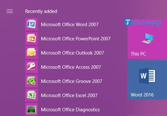 Parallel to office 2007 and 2016 on the computer