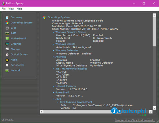 Cách kiểm tra cấu hình máy tính, xem phần cứng laptop Win 10, 7, 8, XP 21