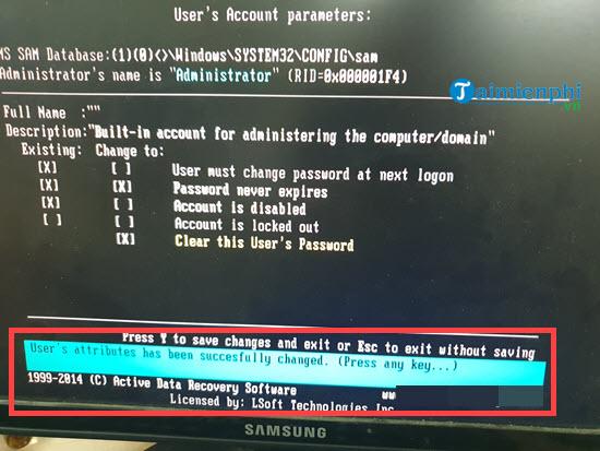 Quên mật khẩu Windows 7, Cách Reset, lấy lại mật khẩu, Phá password đăng nhập 9