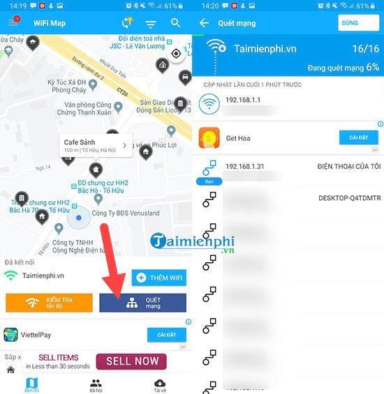 Cách sử dụng wifi miễn phí với WiFi Map 5