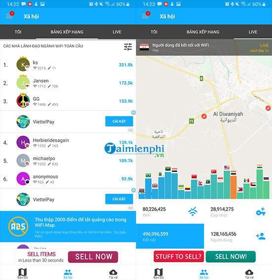 Cách sử dụng wifi miễn phí với WiFi Map 7