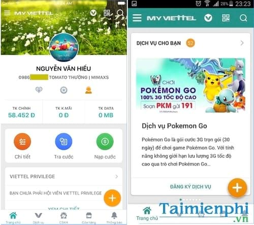 Kiểm tra dung lượng 3G các nhà mạng Viettel, Mobiphone, Vinaphone 2