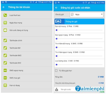Kiểm tra dung lượng 3G các nhà mạng Viettel, Mobiphone, Vinaphone 3