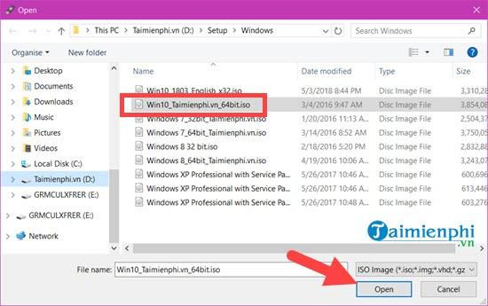 Cách tạo bộ cài Windows 10 từ USB, tạo USB Boot Win 10