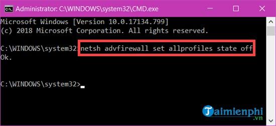Cách bật, tắt tường lửa trên Windows 10, bật tắt Firewall 8