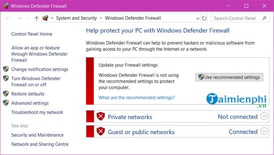 Cách bật, tắt tường lửa trên Windows 10, bật tắt Firewall 9