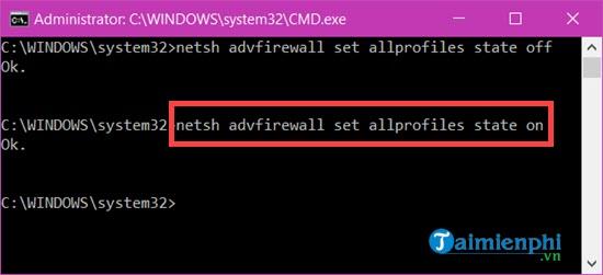 Cách bật, tắt tường lửa trên Windows 10, bật tắt Firewall 10