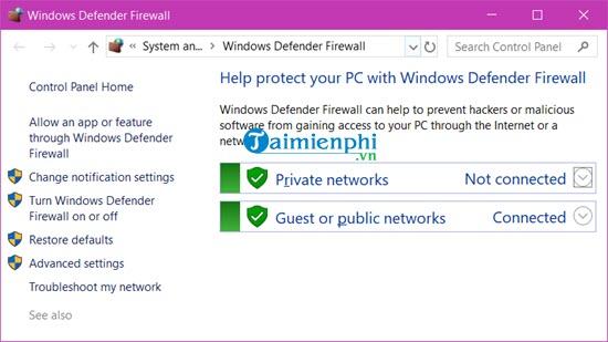 Cách bật, tắt tường lửa trên Windows 10, bật tắt Firewall 11