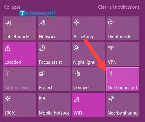 Bật bluetooth, tắt bluetooth trên laptop Win 7, 8 1, 10, chia sẻ file