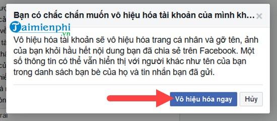 Xóa tài khoản Facebook tạm thời và vĩnh viễn 6