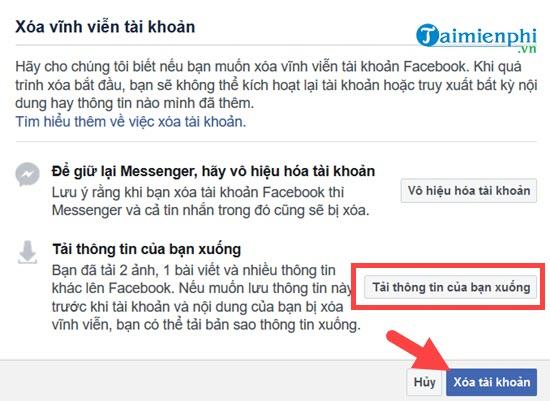 Xóa tài khoản Facebook tạm thời và vĩnh viễn 8