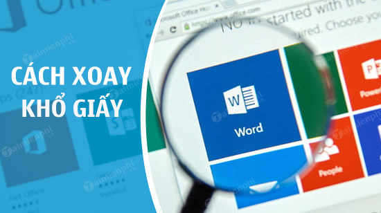 xoay khổ giấy trong Word
