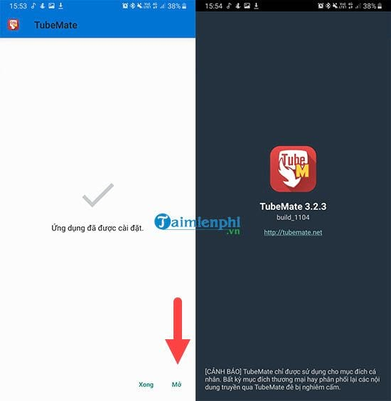 Download youtube video on your phone in tubemate 4