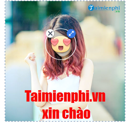chen sticker vao anh tren Facebook