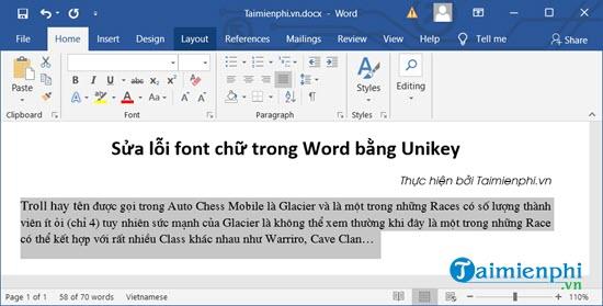 Sửa lỗi font chữ trong Word 2010, 2003, 2016, 2010, 2013 3
