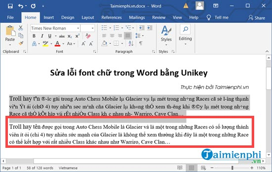 Sửa lỗi font chữ trong Word 2010, 2003, 2016, 2010, 2013 7