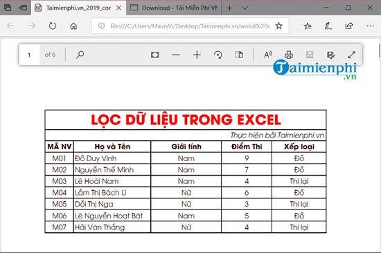 chuyen PDF sang Excel