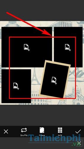 Ghép ảnh vào khung bằng PicsArt