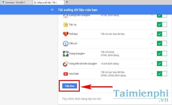 Sao lưu dữ liệu Google sang OneDrive hoặc Dropbox