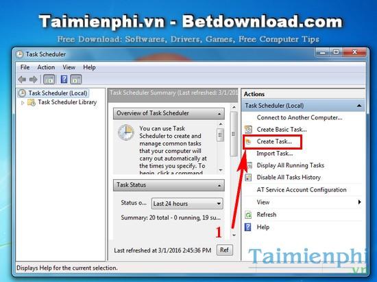Cách nhận email khi đăng nhập Windows