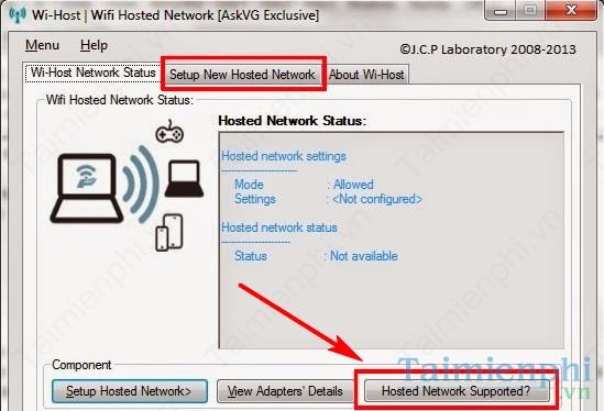 Phát wifi bằng Wi-Host trên máy tính