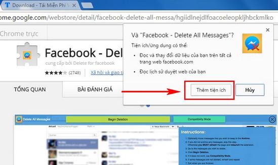 Hướng dẫn xóa tin nhắn hàng loạt trên Facebook