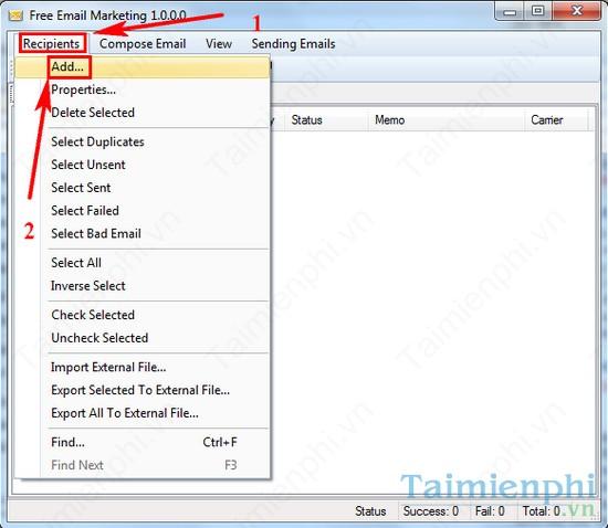 Gửi Email hàng loạt bằng iWesoft Free Email Marketing