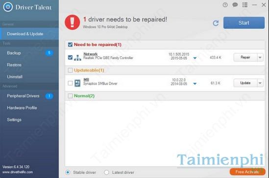 Top 4 phần mềm cập nhật driver miễn phí trên Windows 8