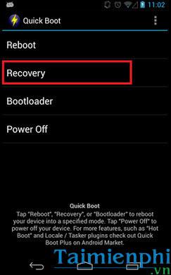 Cách vào chế độ Recovery trên Android 2