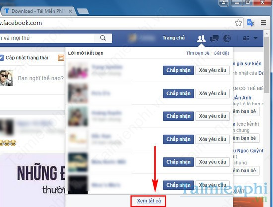 cach xem danh sach da gui ket ban facebook