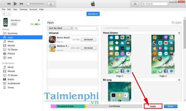 cai dat app cho iphone