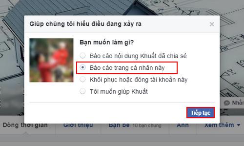 report facebook