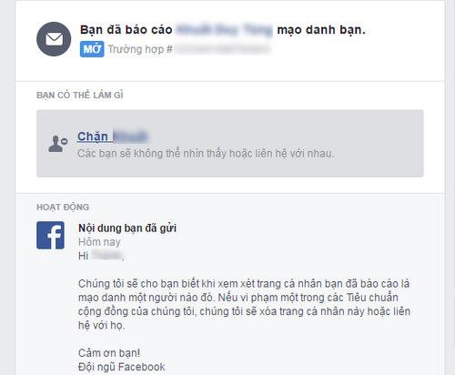 bao cao tai khoan facebook gia danh