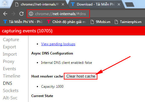 away from cache dns chrome