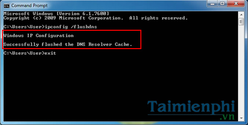 How to clear cache dns windoows 7